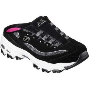 スケッチャーズ Skechers レディース クロッグ シューズ・靴 D'lites Resilient Sneaker Clog Black/White|fermart-shoes
