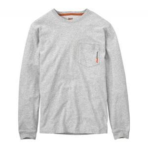ティンバーランド メンズ 長袖Tシャツ トップス Base Plate Blended Long Sleeve T-Shirt - Regular Light Grey Heather fermart-shoes