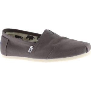 トムズ メンズ スリッポン・フラット シューズ・靴 Classic Alpargata Slip-On Shoe Ash Canvas|fermart-shoes