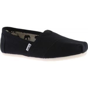 トムズ メンズ スリッポン・フラット シューズ・靴 Classic Alpargata Slip-On Shoe Black Canvas|fermart-shoes