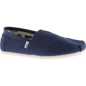 トムズ メンズ スリッポン・フラット シューズ・靴 Classic Alpargata Slip-On Shoe Navy Canvas|fermart-shoes