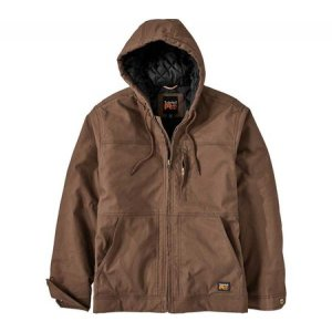 ティンバーランド メンズ レインコート アウター Baluster Insulated Hooded Work Jacket - Regular Dark Wheat|fermart-shoes