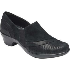アラヴォン Aravon レディース スリッポン・フラット シューズ・靴 Kitt Slip On Black Multi Leather fermart-shoes