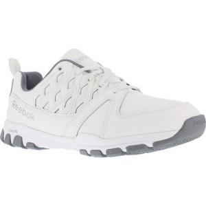 リーボック メンズ シューズ・靴 Sublite RB4442 Work Shoe White Leather|fermart-shoes