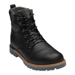 トムズ メンズ ブーツ シューズ・靴 Ashland Boot Black Leather|fermart-shoes