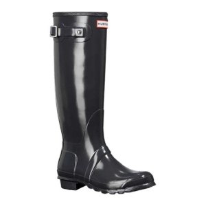 ハンター レディース レインシューズ・長靴 シューズ・靴 Original Tall Gloss Rain Boot Dark Slate|fermart-shoes