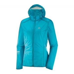 サロモン レディース アウター スキー・スノーボード Lightning Wind Hoodie Jacket Enamel Blue|fermart-shoes