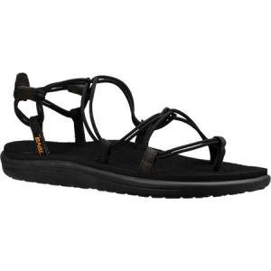テバ レディース サンダル・ミュール シューズ・靴 Voya Infinity Strappy Sandal Black Textile|fermart-shoes