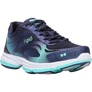 ライカ レディース シューズ・靴 フィットネス・トレーニング Devotion Plus 2 Cross Trainer Navy/Teal Mesh|fermart-shoes