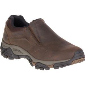 メレル メンズ スリッポン・フラット シューズ・靴 Moab Adventure Moc Slip-On Dark Earth Nubuck Leather|fermart-shoes