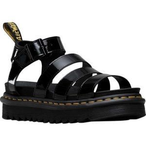 ドクターマーチン Dr. Martens レディース サンダル・ミュール シューズ・靴 Blaire Strappy Sandal Black Patent Lamper Leather|fermart-shoes
