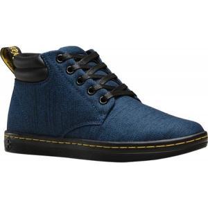 ドクターマーチン Dr. Martens レディース ブーツ シューズ・靴 Belmont Padded Collar 5 Eye Boot Indigo Serge Twill|fermart-shoes