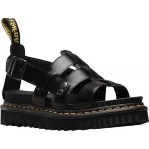 ドクターマーチン メンズ サンダル シューズ・靴 Terry Fisherman Sandal Black Brando Full Grain Waxy Leather|fermart-shoes