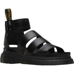 ドクターマーチン Dr. Martens レディース サンダル・ミュール グラディエーターサンダル Clarissa II Gladiator Sandal Black Brando Full Grain Waxy Leather fermart-shoes