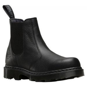 ドクターマーチン メンズ レインシューズ・長靴 シューズ・靴 Howden Chelsea Work Boot Black Industrial Bear Tumbled Leather fermart-shoes