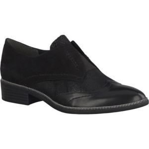 タマリス レディース スリッポン・フラット シューズ・靴 Phanie Cap Toe Slip On Black/Black Combination fermart-shoes