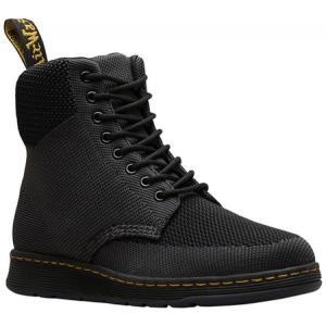 ドクターマーチン メンズ レインシューズ・長靴 シューズ・靴 Rigal 8-Eye Boot Black/Anthracite Knit Textile fermart-shoes