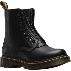 ドクターマーチン Dr. Martens レディース ブーツ シューズ・靴 1460 Pascal Front Zip Boot Black Nappa Leather|fermart-shoes