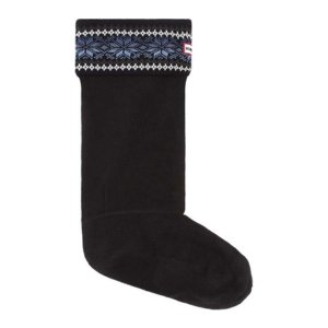 ハンター レディース ソックス インナー・下着 Fair Isle Star Boot Socks Dark Earth Blue/Earth Blue|fermart-shoes