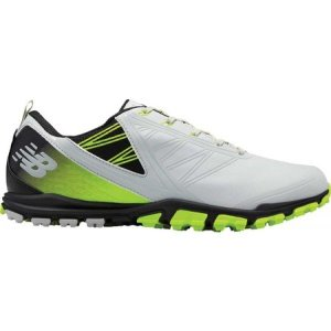 ニューバランス メンズ シューズ・靴 ゴルフ Minimus SL NBG1006 Golf Shoe Grey/Green Microfiber Leather|fermart-shoes
