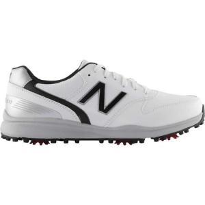 ニューバランス New Balance メンズ シューズ・靴 ゴルフ Sweeper NBG1800 Golf Spike White/Black Microfiber Leather|fermart-shoes