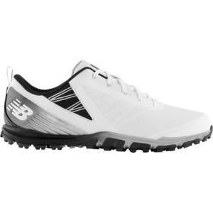 ニューバランス New Balance メンズ シューズ・靴 ゴルフ Minimus SL NBG1006 Golf Shoe White/Black Microfiber Leather|fermart-shoes