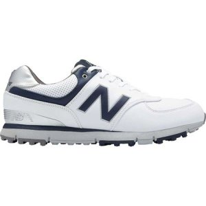 ニューバランス メンズ シューズ・靴 ゴルフ NBG574 SL Golf Shoe White/Navy Microfiber Leather|fermart-shoes