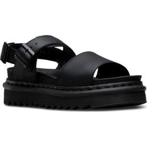 ドクターマーチン レディース サンダル・ミュール シューズ・靴 Voss Slingback Black Hydro Leather|fermart-shoes