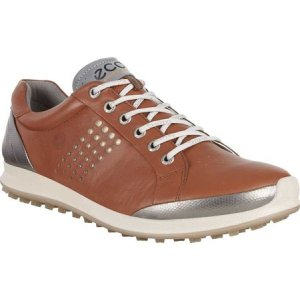 エコー メンズ シューズ・靴 ゴルフ BIOM Hybrid Tie Hydromax Golf Shoe Mahogany/Oyester Leather|fermart-shoes