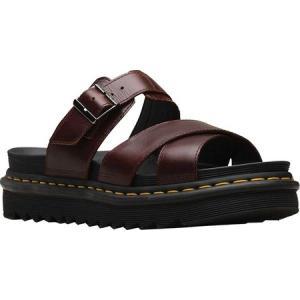 ドクターマーチン Dr. Martens レディース サンダル・ミュール スライドサンダル シューズ・靴 Ryker Slide Sandal Charro Brando Full Grain Waxy Leather|fermart-shoes