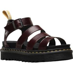 ドクターマーチン レディース サンダル・ミュール シューズ・靴 Vegan Blaire Strappy Sandal Cherry Red/Black Cambridge Brush/Soft Polyurethane fermart-shoes