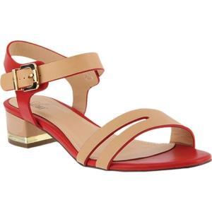 アズラ レディース サンダル・ミュール シューズ・靴 Kavanna Ankle Strap Sandal Red Multi Synthetic|fermart-shoes