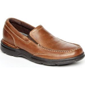 ロックポート メンズ スリッポン・フラット シューズ・靴 Eureka Plus Slip-On Bridle Brown Leather|fermart-shoes