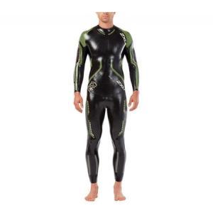 ツータイムズユー 2XU メンズ ウェットスーツ 水着・ビーチウェア Propel Pro Wetsuit Black/Neon Green Gecko|fermart-shoes