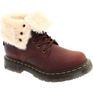 ドクターマーチン Dr. Martens レディース ブーツ シューズ・靴 1460 8-Eye Boot W Dark Brown/Mustang Snowplow WR/Waxy WR Suede|fermart-shoes