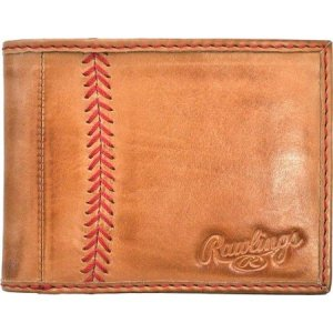 ローリングス Rawlings メンズ 財布 Baseball Stitch 8 Slot Bifold Wallet Tan|fermart-shoes