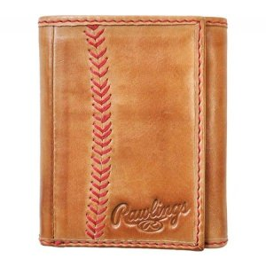 ローリングス Rawlings メンズ 財布 Baseball Stitch Trifold Wallet Tan|fermart-shoes