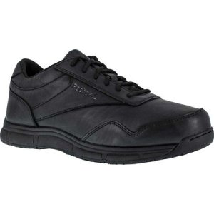 リーボック メンズ 革靴・ビジネスシューズ シューズ・靴 Jorie LT RB1130 Slip Resistant Athletic Oxford Black Polyurethane|fermart-shoes