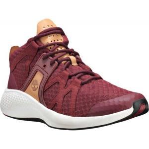 ティンバーランド Timberland メンズ シューズ・靴 ハイキング・登山 FlyRoam Go Fabric/Leather Hiking Shoe Burgundy Knit Jacquard|fermart-shoes
