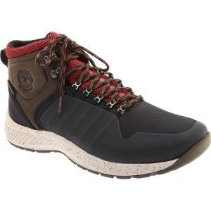 ティンバーランド Timberland メンズ ブーツ シューズ・靴 FlyRoam Trail Fabric Waterproof Boot Black/Burgundy Full Grain Leather/Cordura|fermart-shoes