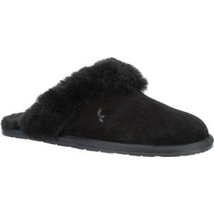 アグ Koolaburra by UGG レディース スリッパ シューズ・靴 Milo Scuff Slipper Black/Black/Black Suede|fermart-shoes