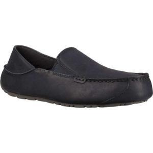 アグ UGG メンズ ドライビングシューズ シューズ・靴 Upshaw Driving Moc True Navy Leather|fermart-shoes