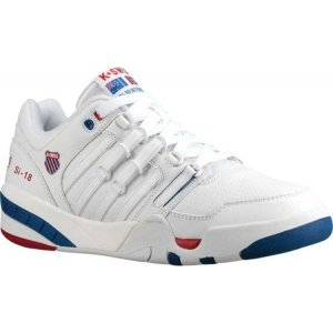ケースイス K-Swiss メンズ スニーカー シューズ・靴 SI-18 International Heritage Sneaker White/Classic Blue/Ribbon Red|fermart-shoes
