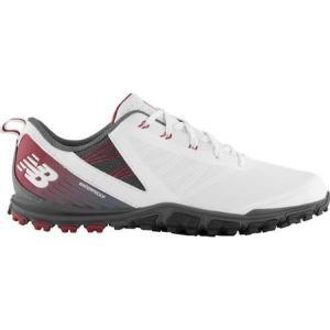 ニューバランス New Balance メンズ シューズ・靴 ゴルフ Minimus SL NBG1006 Golf Shoe White/Maroon Microfiber Leather fermart-shoes