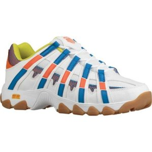 ケースイス K-Swiss メンズ シューズ・靴 ST429 White/Vibrant Orange/Directoire Blue|fermart-shoes