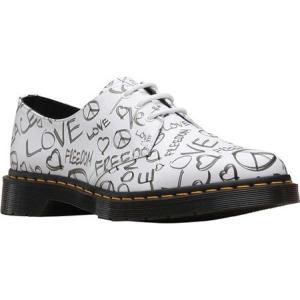 ドクターマーチン Dr. Martens メンズ 革靴・ビジネスシューズ シューズ・靴 1461 Oxford White/Black Script Backhand Full Grain Leather fermart-shoes