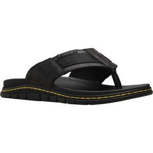 ドクターマーチン Dr. Martens メンズ サンダル シューズ・靴 Athens Thong Sandal Black Carpathian Milled Leather/Webbing fermart-shoes
