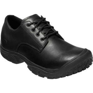 キーン KEEN Utility メンズ 革靴・ビジネスシューズ シューズ・靴 Kanteen Soft Toe Waterproof Oxford Black/Black Leather|fermart-shoes