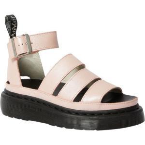 ドクターマーチン Dr. Martens レディース サンダル・ミュール Clarissa II Quad Platform Strappy Sandal Pink Salt Metallic Pisa Waxy Nappa Leather fermart-shoes