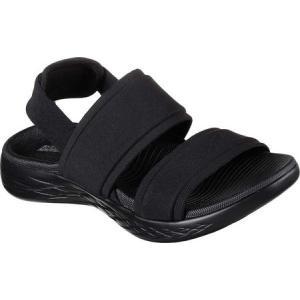 スケッチャーズ レディース サンダル・ミュール シューズ・靴 On the GO 600 Foxy Slingback Sandal Black/Black|fermart-shoes